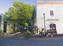 Rue chez Santo Domingo Photo libre de droits