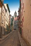 Rue Christie, πόλη του Κεμπέκ Στοκ Φωτογραφία