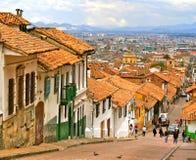 Rue coloniale, Bogota, Colombie Photographie stock libre de droits
