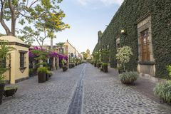 Rue coloniale de tequila Jalisco images libres de droits