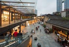 Rue commerciale de Chengdu Taikooli en Chine photographie stock