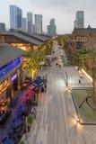 Rue commerciale de Chengdu Taikooli en Chine photo libre de droits