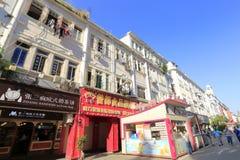 Rue commerciale de marche de route de Zhongshan Photographie stock libre de droits