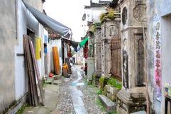 Rue commerciale de village de Nanping Photographie stock libre de droits