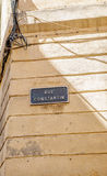 Rue Constantion or Constantin street sign Stock Image