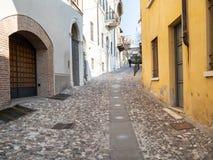 """Rue Contrada Sant """"Urbano dans la ville de Brescia photo libre de droits"""