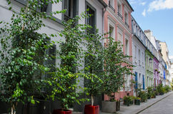 Rue Cremieux is one of the prettiest residential streets in Paris Royalty Free Stock Photography