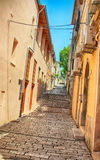 Rue Croatie de Pula Photos stock
