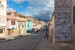Rue Cuenca Equateur de Rafael Maria Arizaga photo libre de droits