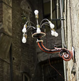 Rue décorative Light6 en Sienna Italy Photos stock