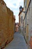 Rue d'étroit de l'Espagne Ségovie Image libre de droits