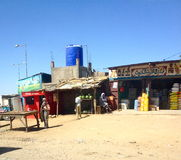Rue d'achats à Ne Djamena, Tchad Photos libres de droits