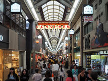 Rue d'achats d'Osaka Shinsaibashi images stock