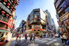 Rue d'achats de Myeong Dong : Corée Photographie stock
