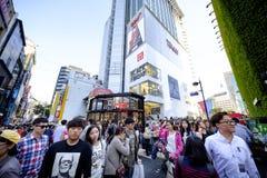 Rue d'achats de Myeong Dong : Corée Images libres de droits