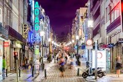 Rue d'achats de Porto Photos stock