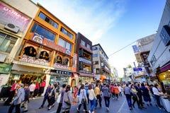 Rue d'achats d'Insadong : Corée Photos libres de droits