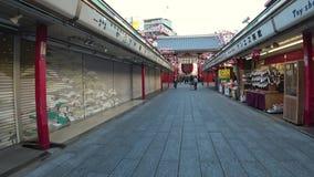 Rue d'achats ou Nakamise de temple de Sensoji, Tokyo banque de vidéos
