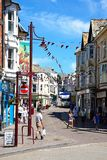 Rue d'achats, Seaton images stock