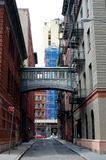 Rue d'agrafe, New York City Photos stock