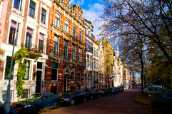 Rue d'Amsterdam en automne Pays-Bas image stock