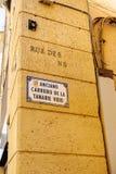 Rue d'Anciano Carriero de la Tanaie Vieio Photo stock