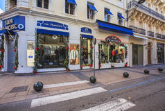 Rue d'Antibes, Cannes, France Royalty Free Stock Photos