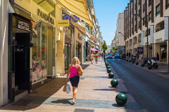 Rue d Antibes in Cannes, South France Royalty Free Stock Image