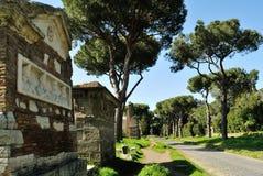 Rue d'Appia Antica Photographie stock libre de droits