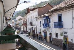 Rue d'architecture d'Inca dans Cuzco, Pérou Architecture antique image libre de droits