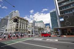 Rue d'Auckland Nouvelle Zélande Photographie stock libre de droits