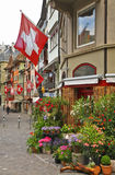 Rue d'Augustinergasse dans le quart de Lindenhof zurich switzerland images libres de droits