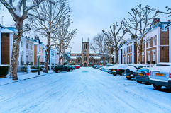Rue d'hiver, Londres - Angleterre Photographie stock libre de droits
