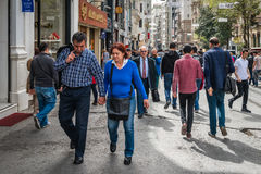 Rue d'Istiklal à Istanbul, Turquie Image stock