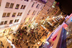Rue d'Istiklal, ?stanbul Turquie Image stock