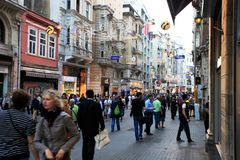 Rue d'Istiklal Photographie stock