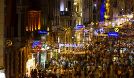 Rue d'Istiklal, Istanbul Photo stock