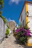 Rue d'Obidos Photo stock