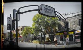 Rue d'Ontario (Montréal) Photo stock