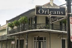 Rue D Orleans Famous Street Downtown French Quarter Stock Photos