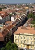 Rue d'Oskola dans Szeged Photographie stock libre de droits