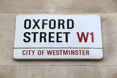 Rue d'Oxford Image stock