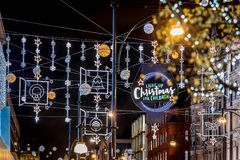 Rue d'Oxford dans le temps de Noël, Londres photographie stock