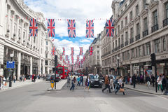 Rue d'Oxford, Londres Images stock