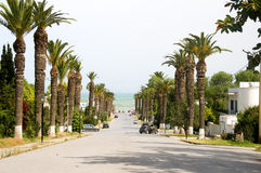 Rue Dag Hammarskjoeld Carthage Tunisie Photos libres de droits
