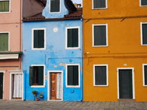 Rue dans Burano Photo stock