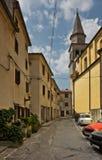 Rue dans Buzet, Croatie Photo libre de droits