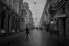 Rue dans Chernivtsi Images stock