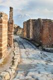 Rue dans des ruines de Pompéi, Italie photos libres de droits