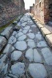 Rue dans des ruines de Pompéi, Italie photos stock